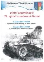 Pietní vzpomínka k 73. výročí osvobození Plesné
